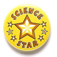 Science Star Button Badge</br>BA046